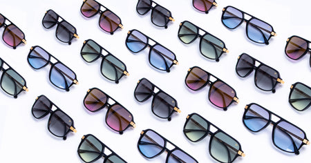 Vintage Frames Company Exclusive Custom Sunglasses : Zero-Base Curve Lenses