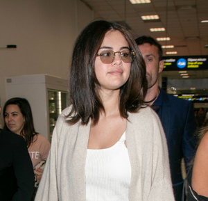 Selena Gomez in Vintage Frames Drill-mount Sunglasses