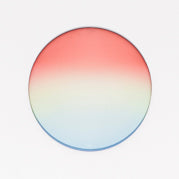 Red/Clear/Blue Gradient Lens