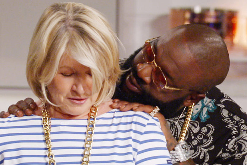 c65c5d0a78 Rick Ross Flirting with Martha Stewart in Vintage Bugatti Sunglasses