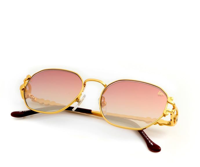 VF Legend 18KT Gold (Burgundy Gradient), VF Masterpiece, vintage frames, vintage frame, vintage sunglasses, vintage glasses, retro sunglasses, retro glasses, vintage glasses, vintage designer sunglasses, vintage design glasses, eyeglass frames, glasses frames, sunglass frames, sunglass, eyeglass, glasses, lens, jewelry, vintage frames company, vf