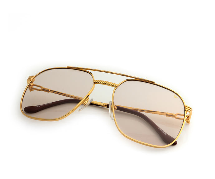VF Narcos 18KT Gold (Light Brown), VF Masterpiece, vintage frames, vintage frame, vintage sunglasses, vintage glasses, retro sunglasses, retro glasses, vintage glasses, vintage designer sunglasses, vintage design glasses, eyeglass frames, glasses frames, sunglass frames, sunglass, eyeglass, glasses, lens, jewelry, vintage frames company, vf