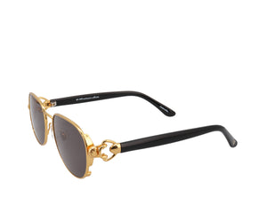 VF Notorious 24KT Gold (Black Solid), VF Masterpiece, glasses frames, eyeglasses online, eyeglass frames, mens glasses, womens glasses, buy glasses online, designer eyeglasses, vintage sunglasses, retro sunglasses, vintage glasses, sunglass, eyeglass, glasses, lens, vintage frames company, vf