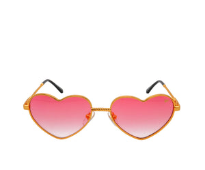 I Heart VF Sunglasses 18KT Gold (Red Gradient), VF Masterpiece, glasses frames, eyeglasses online, eyeglass frames, mens glasses, womens glasses, buy glasses online, designer eyeglasses, vintage sunglasses, retro sunglasses, vintage glasses, sunglass, eyeglass, glasses, lens, vintage frames company, vf