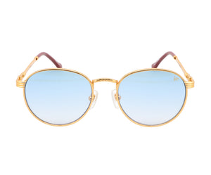 VF Miami Vice 18KT Gold (Sky Blue) Front, VF by Vintage Frames, glasses frames, eyeglasses online, eyeglass frames, mens glasses, womens glasses, buy glasses online, designer eyeglasses, vintage sunglasses, retro sunglasses, vintage glasses, sunglass, eyeglass, glasses, lens, vintage frames company, vf