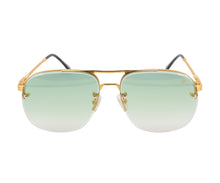 Snatch Bevel 18KT Drill Mount Gold (Pastel Green),VF Drill Mount , glasses frames, eyeglasses online, eyeglass frames, mens glasses, womens glasses, buy glasses online, designer eyeglasses, vintage sunglasses, retro sunglasses, vintage glasses, sunglass, eyeglass, glasses, lens, vintage frames company, vf