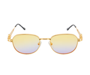 VF Tokyo A4 24KT Gold (Yellow / Blue), VF Masterpiece, glasses frames, eyeglasses online, eyeglass frames, mens glasses, womens glasses, buy glasses online, designer eyeglasses, vintage sunglasses, retro sunglasses, vintage glasses, sunglass, eyeglass, glasses, lens, vintage frames company, vf