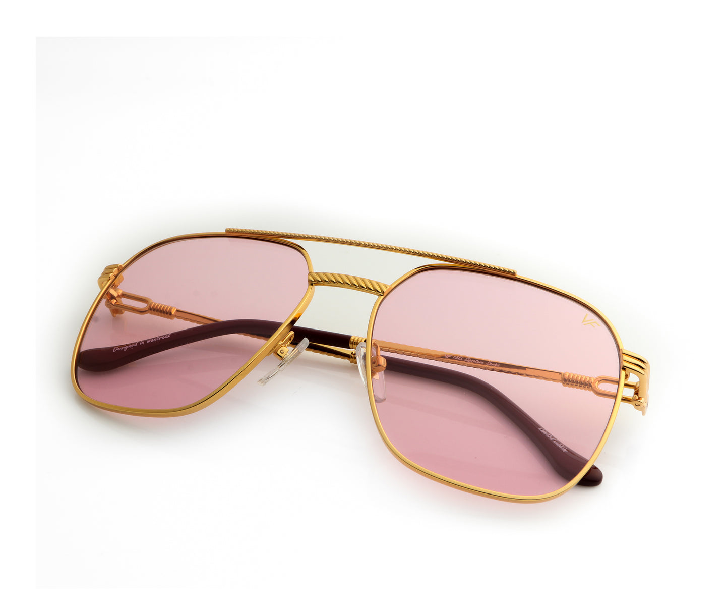 VF Narcos 18KT Gold (Light Rose), VF Masterpiece , glasses frames, eyeglasses online, eyeglass frames, mens glasses, womens glasses, buy glasses online, designer eyeglasses, vintage sunglasses, retro sunglasses, vintage glasses, sunglass, eyeglass, glasses, lens, vintage frames company, vf