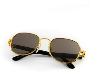 VF Notorious 24KT Gold (Black Solid), VF Masterpiece, vintage frames, vintage frame, vintage sunglasses, vintage glasses, retro sunglasses, retro glasses, vintage glasses, vintage designer sunglasses, vintage design glasses, eyeglass frames, glasses frames, sunglass frames, sunglass, eyeglass, glasses, lens, jewelry, vintage frames company, vf