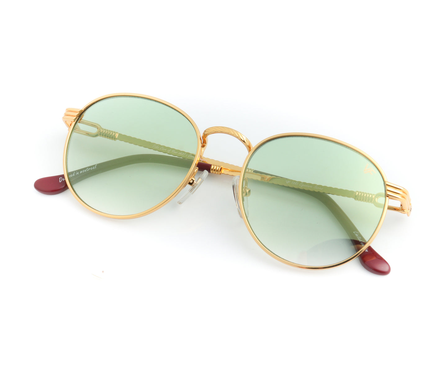 VF Miami Vice 18KT Gold (Money Green) Front, VF by Vintage Frames , glasses frames, eyeglasses online, eyeglass frames, mens glasses, womens glasses, buy glasses online, designer eyeglasses, vintage sunglasses, retro sunglasses, vintage glasses, sunglass, eyeglass, glasses, lens, vintage frames company, vf