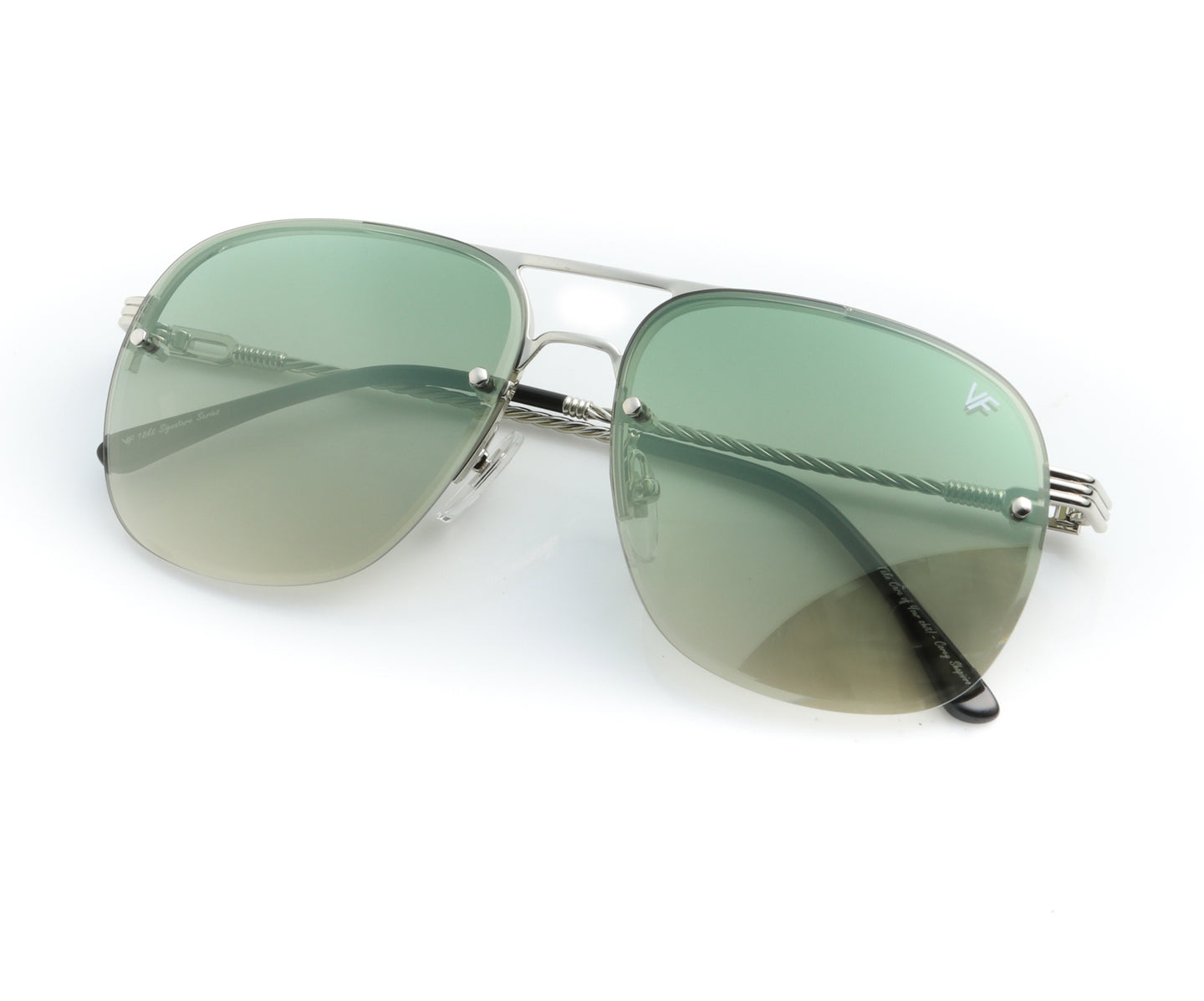 Snatch Bevel 18KT Drill Mount White Gold (Pastel Green), VF Drill Mount , glasses frames, eyeglasses online, eyeglass frames, mens glasses, womens glasses, buy glasses online, designer eyeglasses, vintage sunglasses, retro sunglasses, vintage glasses, sunglass, eyeglass, glasses, lens, vintage frames company, vf