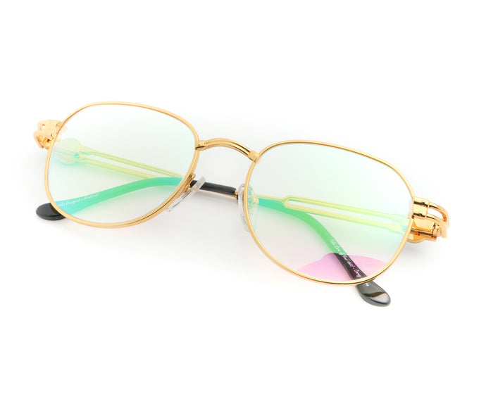VF Tokyo A4 24KT Gold (Pink Multi Flash), VF Masterpiece, vintage frames, vintage frame, vintage sunglasses, vintage glasses, retro sunglasses, retro glasses, vintage glasses, vintage designer sunglasses, vintage design glasses, eyeglass frames, glasses frames, sunglass frames, sunglass, eyeglass, glasses, lens, jewelry, vintage frames company, vf