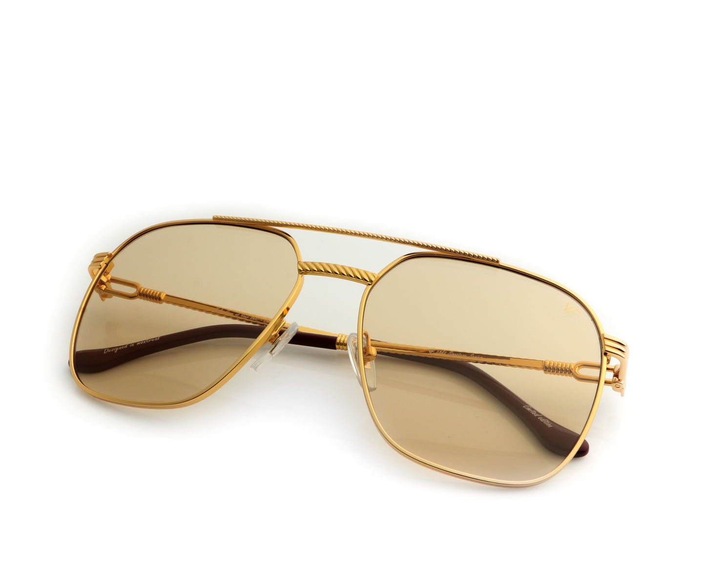 VF Narcos 18KT Gold (Amber), VF Masterpiece , glasses frames, eyeglasses online, eyeglass frames, mens glasses, womens glasses, buy glasses online, designer eyeglasses, vintage sunglasses, retro sunglasses, vintage glasses, sunglass, eyeglass, glasses, lens, vintage frames company, vf