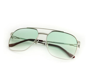 VF Narcos 18KT White Gold (Money Green Gradient), VF Masterpiece, glasses frames, eyeglasses online, eyeglass frames, mens glasses, womens glasses, buy glasses online, designer eyeglasses, vintage sunglasses, retro sunglasses, vintage glasses, sunglass, eyeglass, glasses, lens, vintage frames company, vf