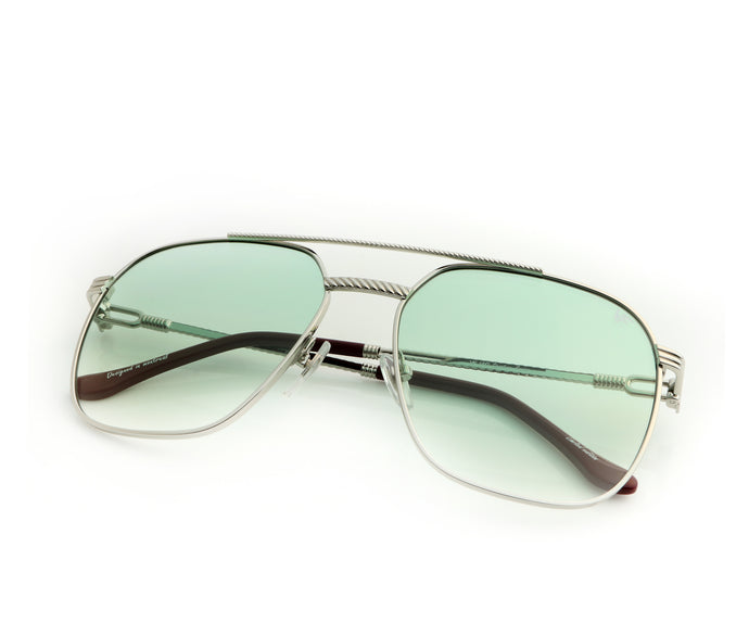 VF Narcos 18KT White Gold (Money Green Gradient), VF Masterpiece, vintage frames, vintage frame, vintage sunglasses, vintage glasses, retro sunglasses, retro glasses, vintage glasses, vintage designer sunglasses, vintage design glasses, eyeglass frames, glasses frames, sunglass frames, sunglass, eyeglass, glasses, lens, jewelry, vintage frames company, vf