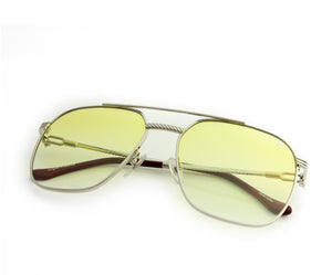 VF Narcos 18KT White Gold (Light Yellow Gradient), VF Masterpiece, vintage frames, vintage frame, vintage sunglasses, vintage glasses, retro sunglasses, retro glasses, vintage glasses, vintage designer sunglasses, vintage design glasses, eyeglass frames, glasses frames, sunglass frames, sunglass, eyeglass, glasses, lens, jewelry, vintage frames company, vf