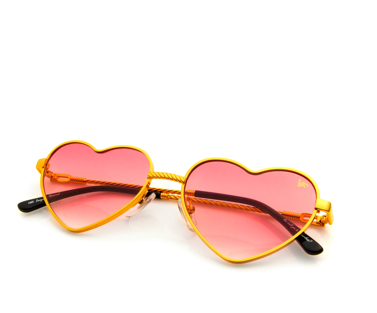 I Heart VF Sunglasses 18KT Gold (Red Gradient), VF Masterpiece , glasses frames, eyeglasses online, eyeglass frames, mens glasses, womens glasses, buy glasses online, designer eyeglasses, vintage sunglasses, retro sunglasses, vintage glasses, sunglass, eyeglass, glasses, lens, vintage frames company, vf