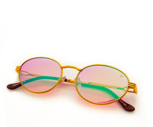 VF Pac Full Rope 18KT Gold (Candy Pink Multi Flash), VF Masterpiece, vintage frames, vintage frame, vintage sunglasses, vintage glasses, retro sunglasses, retro glasses, vintage glasses, vintage designer sunglasses, vintage design glasses, eyeglass frames, glasses frames, sunglass frames, sunglass, eyeglass, glasses, lens, jewelry, vintage frames company, vf