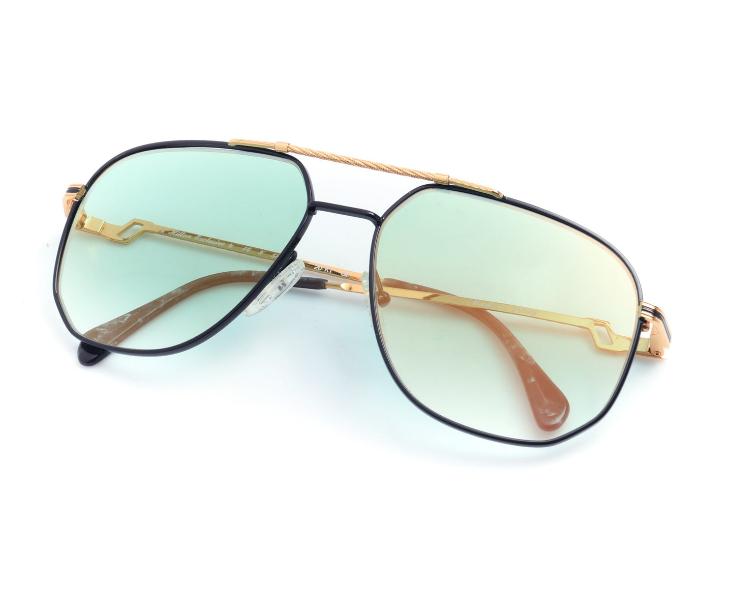 Hilton Exclusive 16 3 20KT Gold Plated (Teal Gradient), Hilton , glasses frames, eyeglasses online, eyeglass frames, mens glasses, womens glasses, buy glasses online, designer eyeglasses, vintage sunglasses, retro sunglasses, vintage glasses, sunglass, eyeglass, glasses, lens, vintage frames company, vf