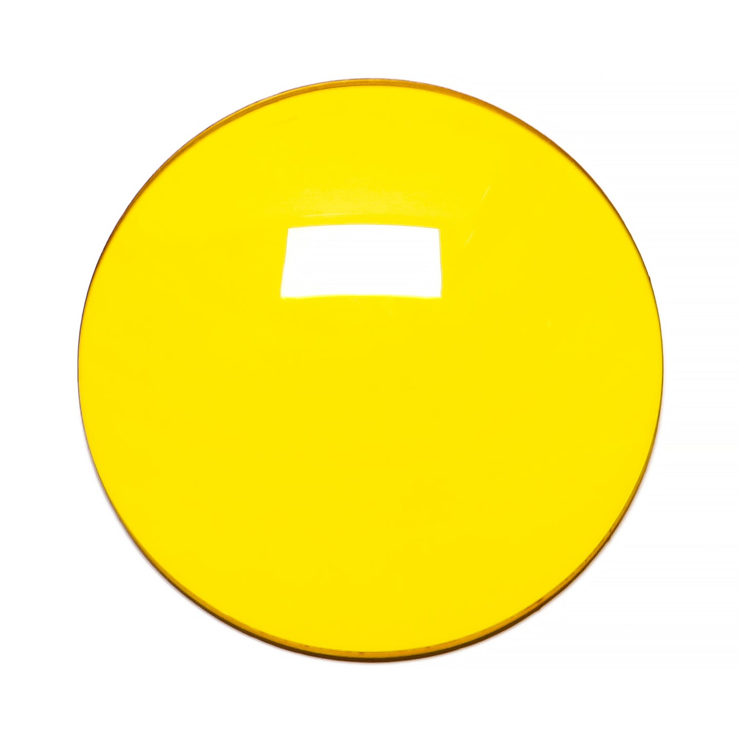 006 - Deep Yellow Solid Regular Curve Lens