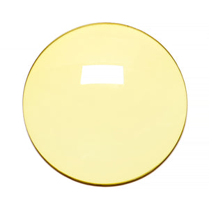 005 - Light Yellow Solid Regular Curve Lens