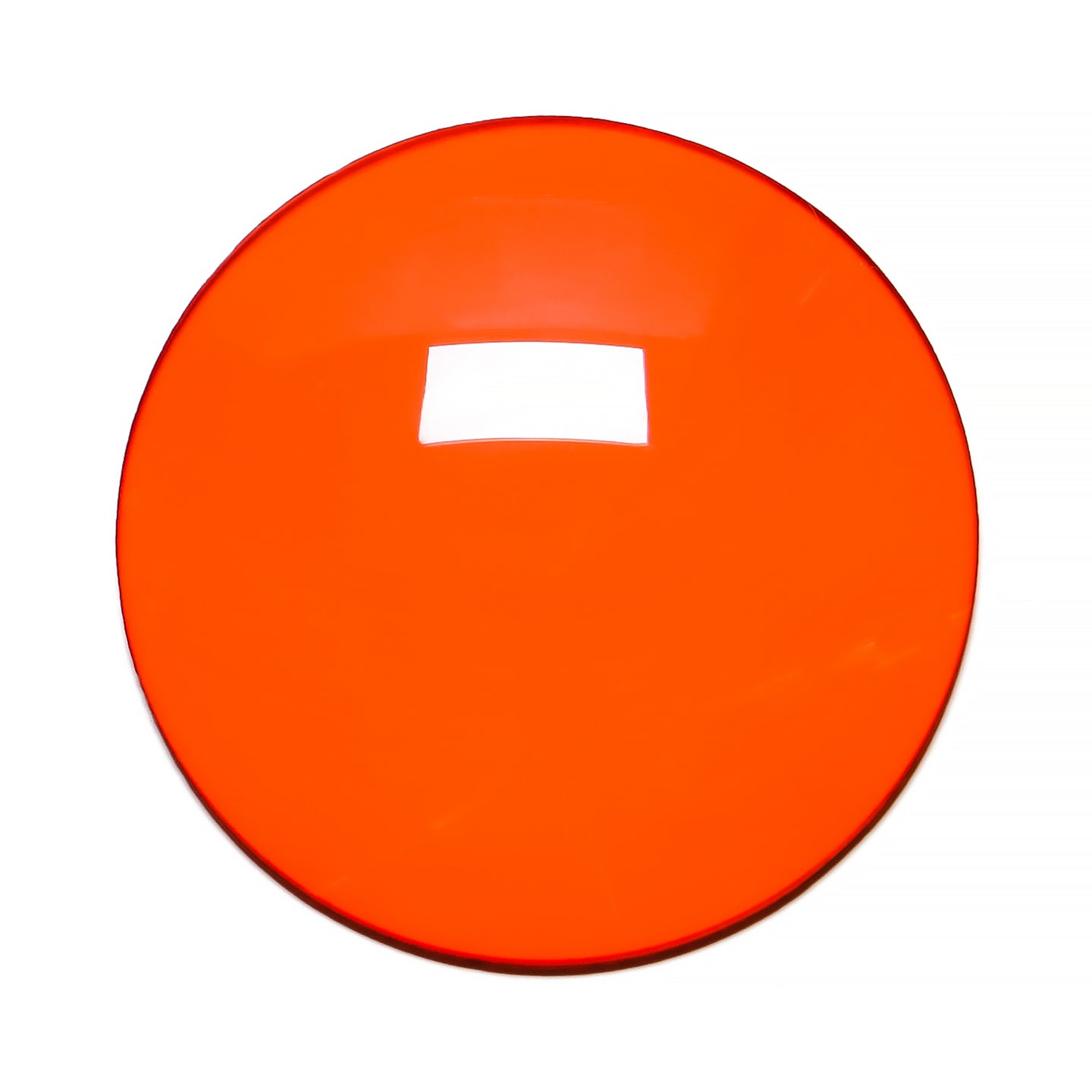 008 - Orange Solid Regular Curve Lens