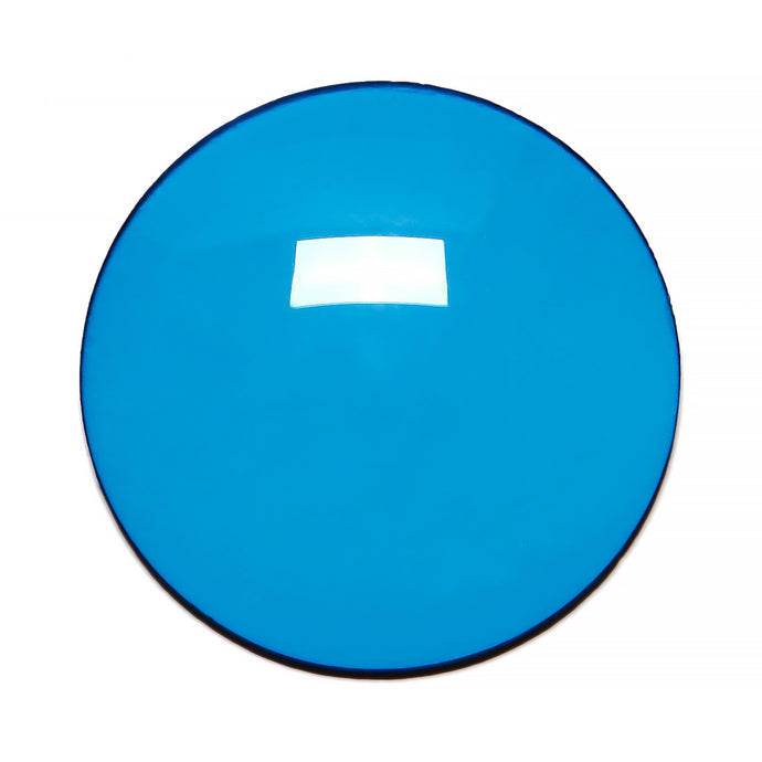 012 - Bright Blue Solid Regular Curve Lens