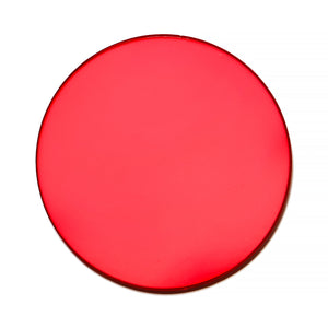 023 - Red Solid Flat Lens