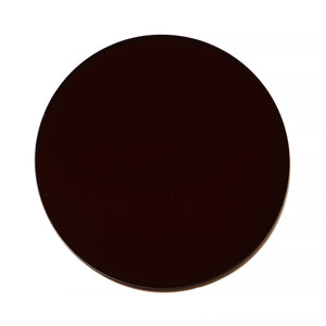 026 - Dark Brown Solid Flat Lens