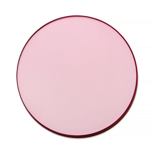 028 - Baby Pink Solid Flat Lens