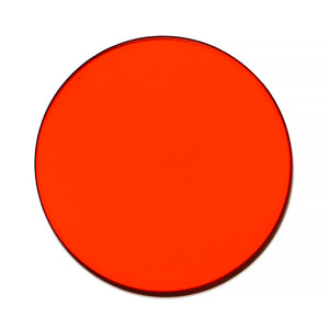 029 - Orange Solid Flat Lens