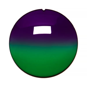 039 - Purple / Green Gradient Regular Curve Lens