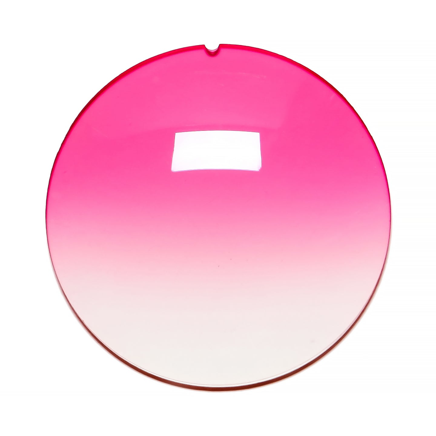 042 - Bright Pink Gradient Regular Curve Lens
