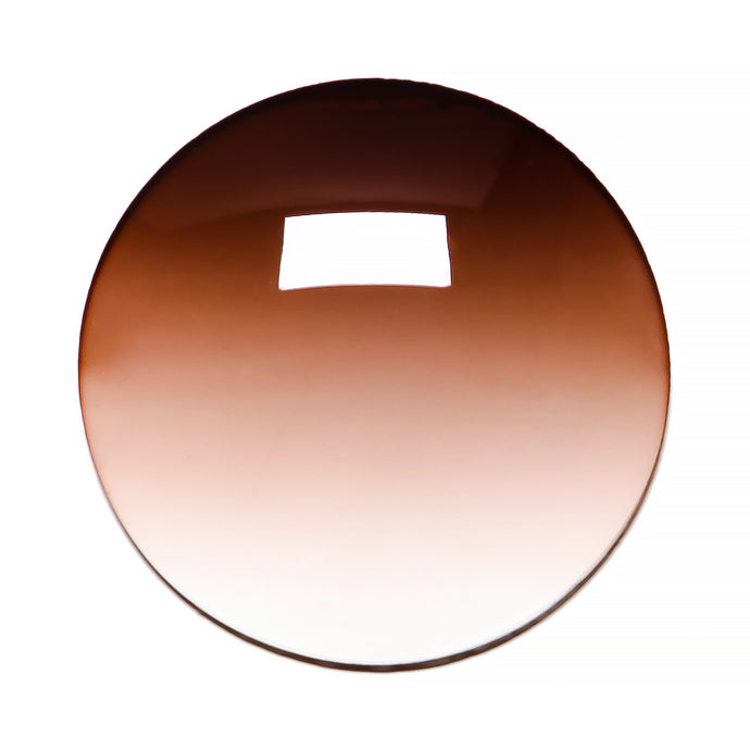 053 - Brown Gradient Regular Curve Lens