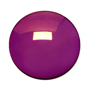 111 - Deep Purple Solid Regular Curve Flash Gold Lens
