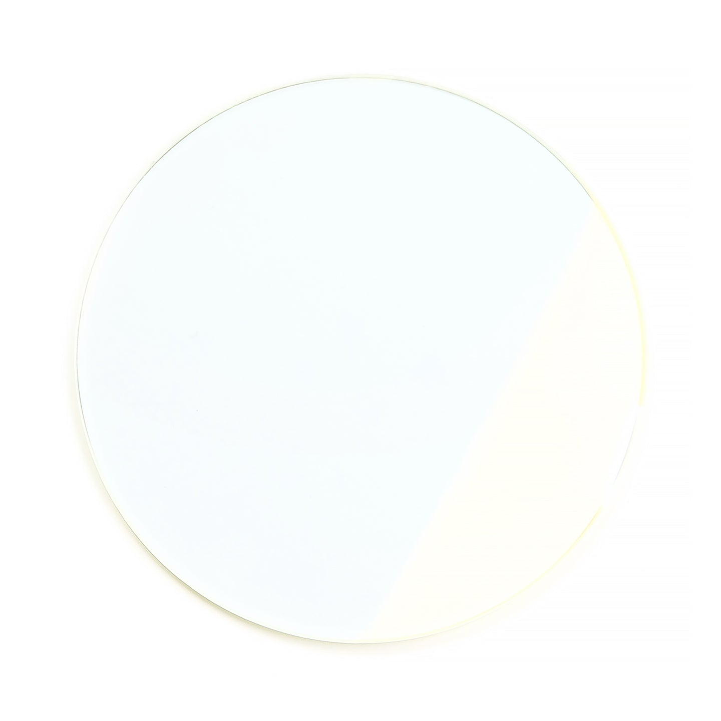 129 - Clear Solid Flat Flash Gold Lens