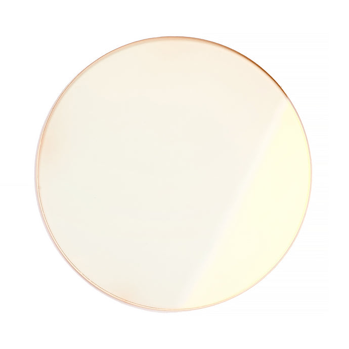 131 - Light Orange Solid Flat Flash Gold Lens