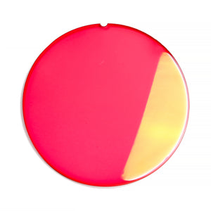 132 - Red Solid Flat Flash Gold Lens