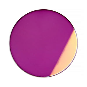 133 - Deep Purple Solid Flat Flash Gold Lens