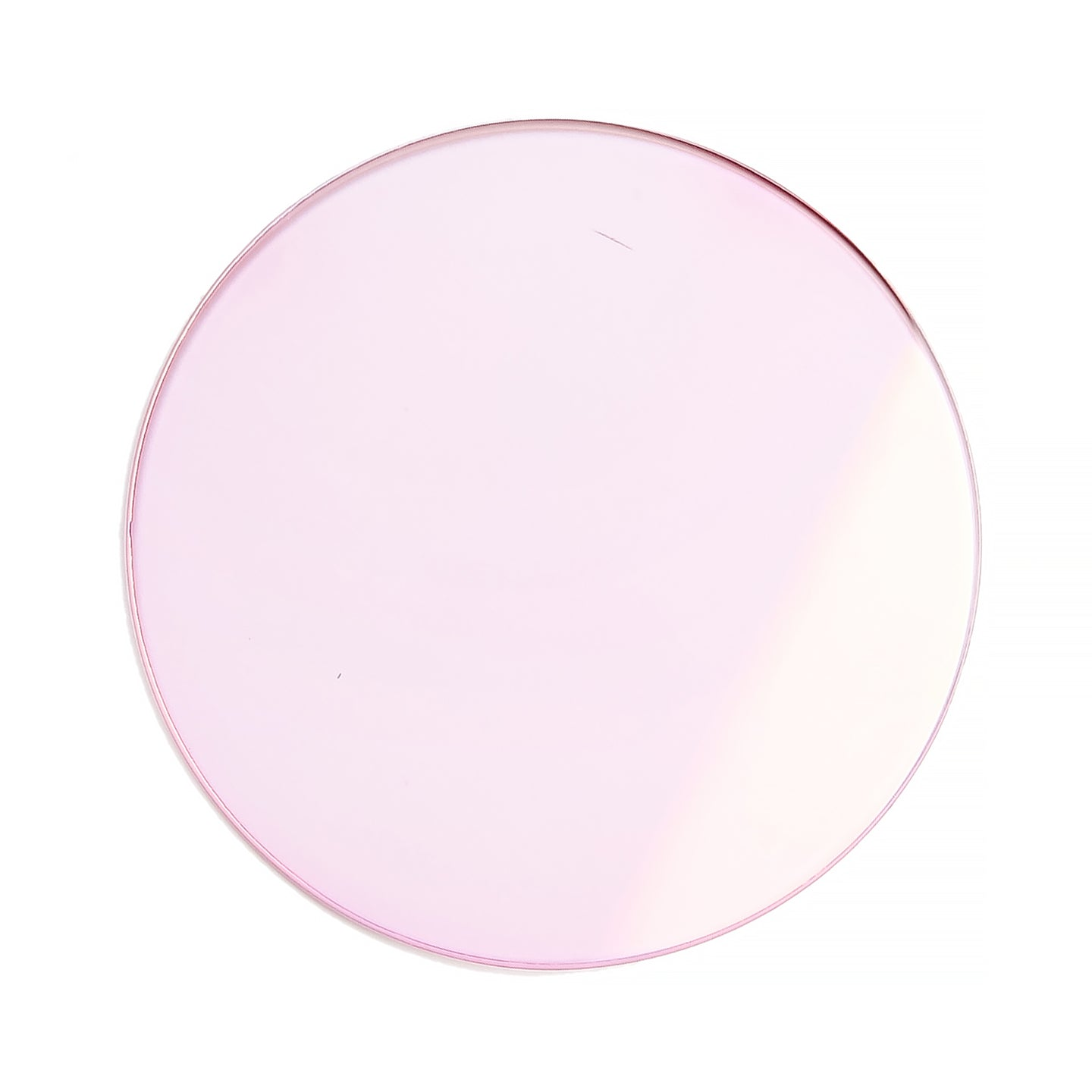 135 - Baby Pink Solid Flat Flash Gold Lens