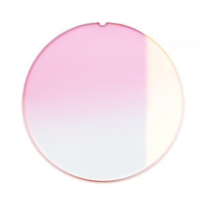 139 - Light Pink Gradient Flat Flash Gold Lens