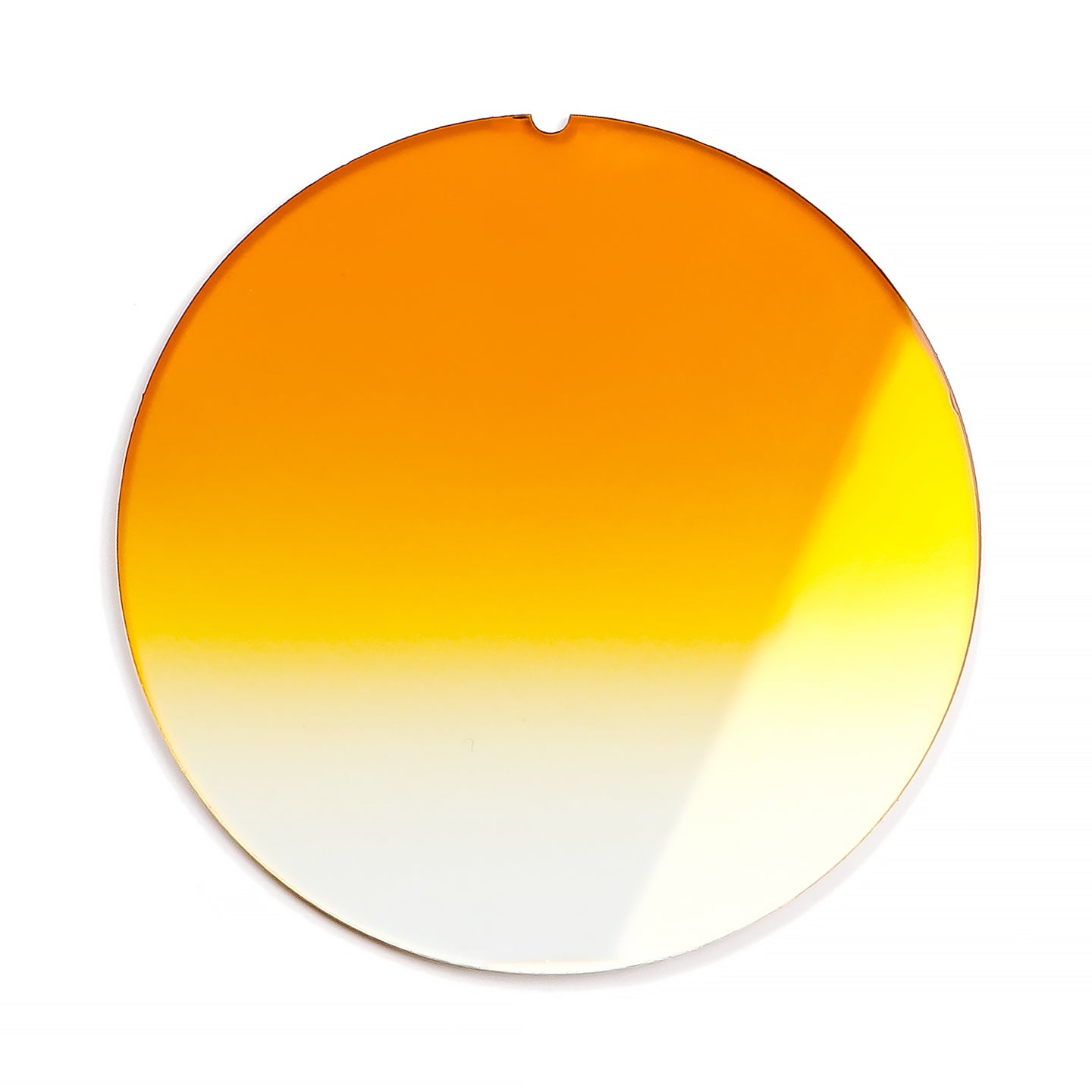 141 - Yellow Metro Gradient Flat Flash Gold Lens, lens, vintage lens, clear lens, lens frames, lens frame, circle lens, mens glasses, womens glasses, lens width, vintage frames company, vf