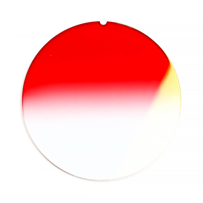 145 - Red Gradient Flat Flash Gold Lens