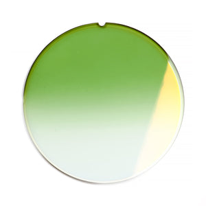 153 - Field Green Gradient Flat Flash Gold Lens, lens, vintage lens, clear lens, lens frames, lens frame, circle lens, mens glasses, womens glasses, lens width, vintage frames company, vf