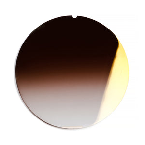 154 - Brown Gradient Flat Flash Gold Lens
