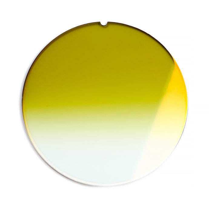 187 - Olive Green Gradient Flat Flash Gold Lens