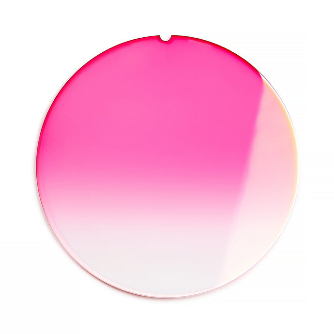 188 - Bright Pink Gradient Flat Flash Gold Lens