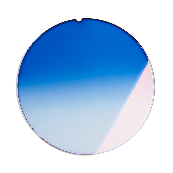 203 - Two-Tone Royal Blue Gradient Flat Flash Gold Lens