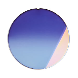 205 - Two-Tone Mauve Gradient Flat Flash Gold Lens