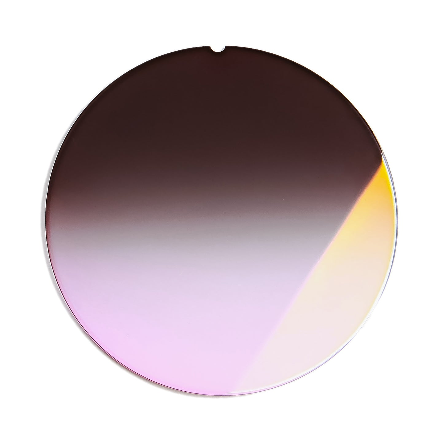 208 - Black Pink Gradient Flat Flash Gold Lens